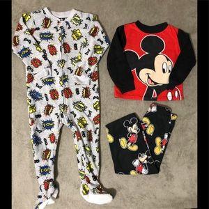 Fleece 3T Pajamas Mickey Mouse & Super Hero
